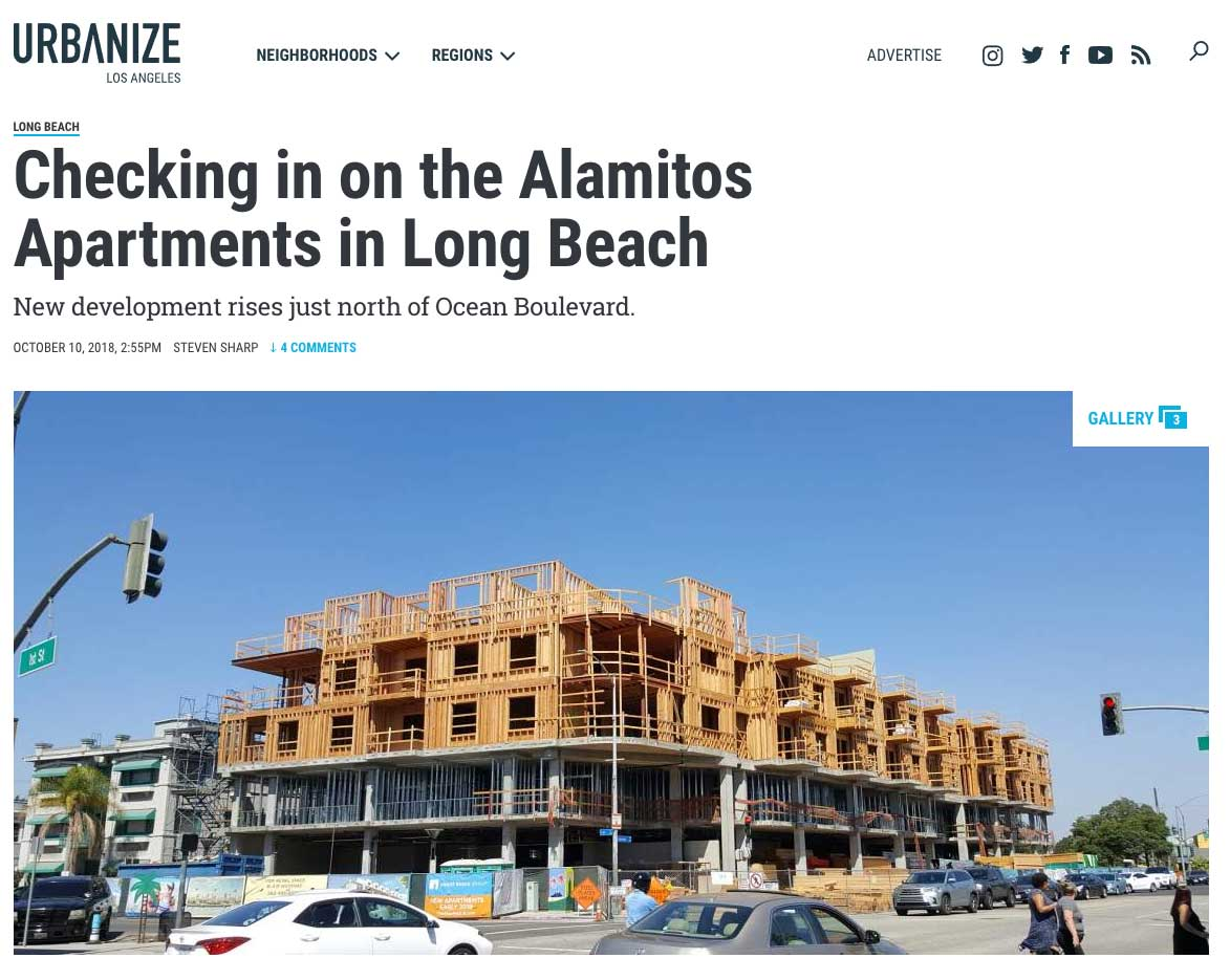 Parisi Selected for Interior Design – The Alamitos Apartments in Long Beach