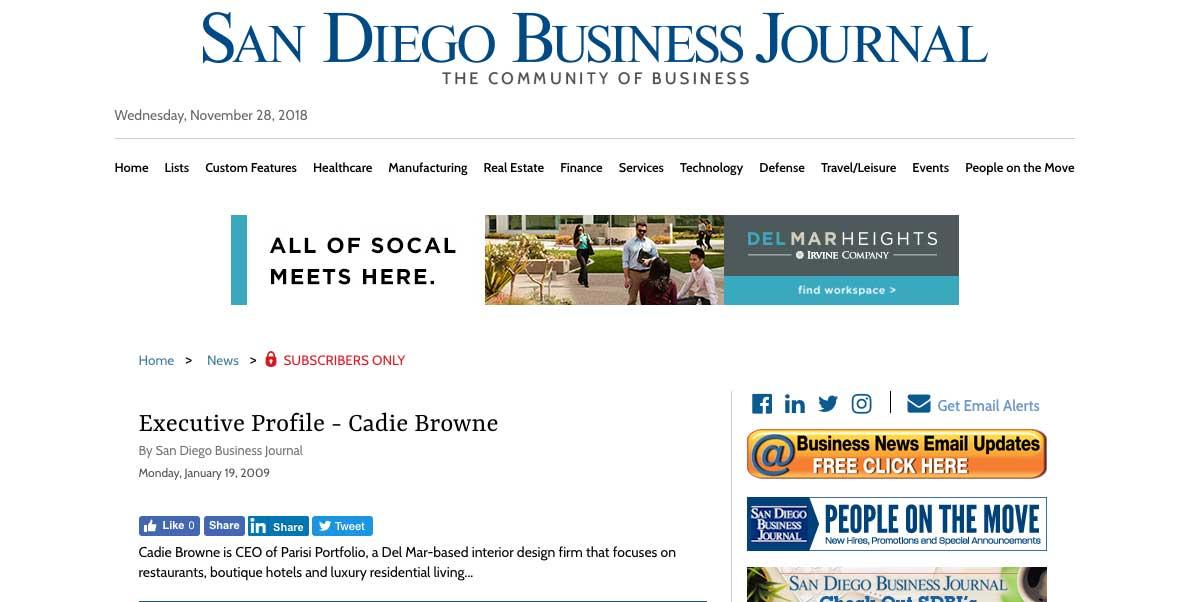 Cadie Browne – Executive Profile – San Diego Business Journal