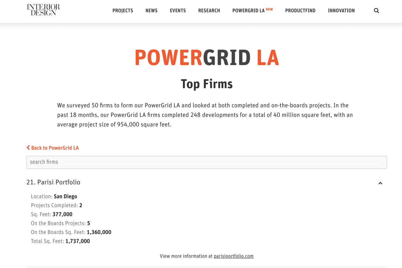 Power Grid Top LA Interior Design Firms