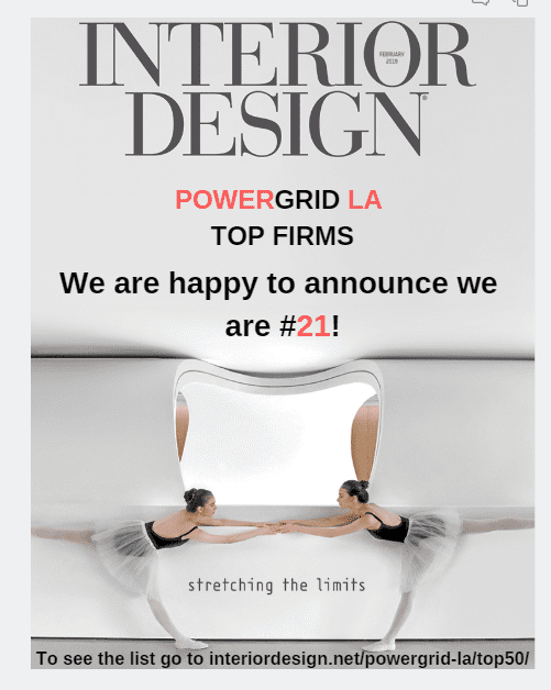 Parisi Portfolio Selected top 50 LA Interior Designers Power Grid