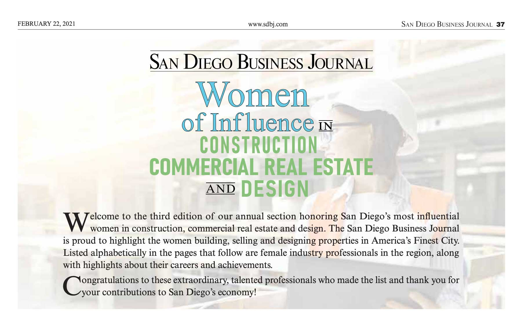 SDBJ Influential Women